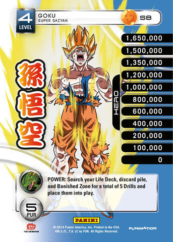 #S008 Goku - Super Saiyan - High Tech Foil (Premiere Set)