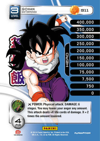 #S011 Gohan - Determined - High Tech Foil (Premiere Set)