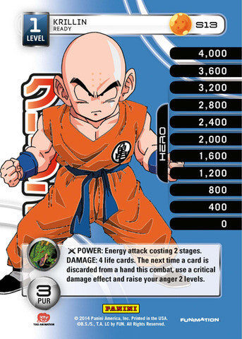 #S013 Krillin - Ready - High Tech Foil (Premiere Set)