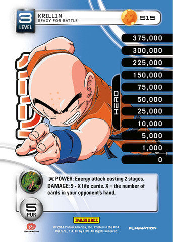 #S015 Krillin - Ready For Battle - High Tech Foil (Premiere Set)