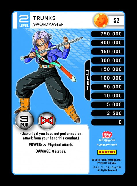 #S002 Trunks, Swordmaster - Pack Foil (Evolution)