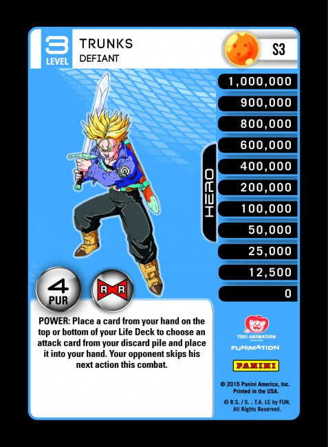#S003 Trunks, Defiant - Rainbow Prism Foil (Evolution)