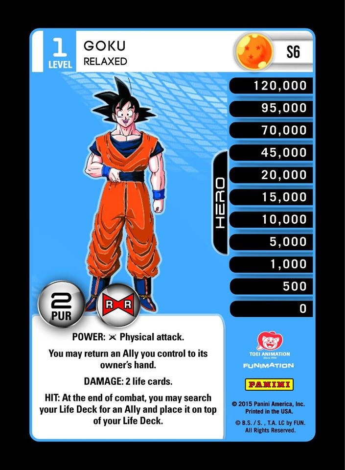 #S006 Goku, Relaxed - Pack Foil (Evolution)