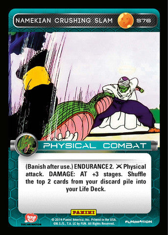 #S076 Namekian Crushing Slam - Foil (Premiere Set)