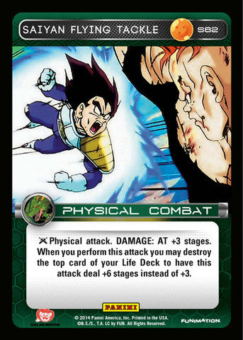 #S082 Saiyan Flying Tackle - Foil (Premiere Set)