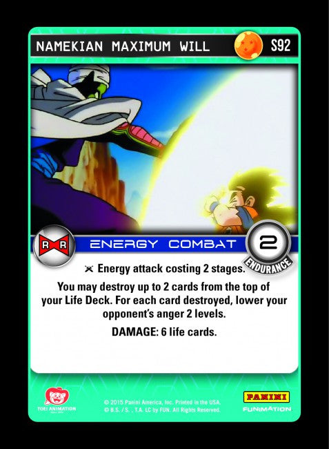 #S092 Namekian Maximum Will - Foil (Evolution)