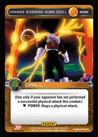 #S099 Orange Burning Aura Drill - Foil (Premiere Set)