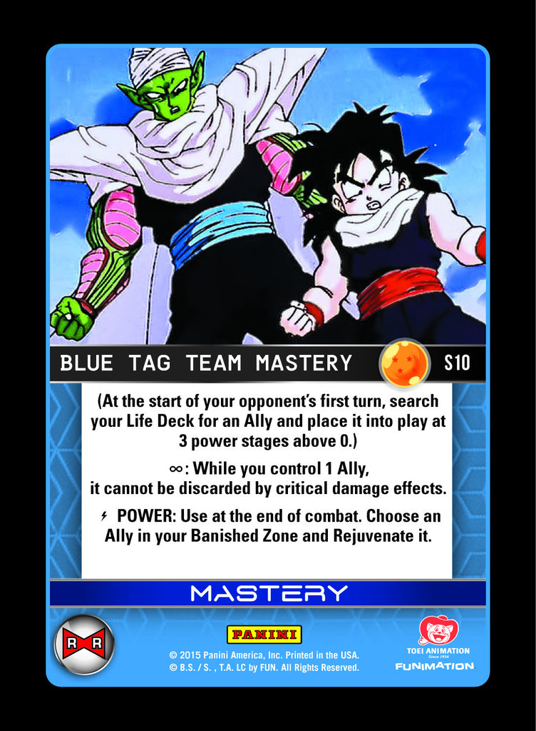 #S010 Blue Tag Team Mastery - Rainbow Prism Foil (Evolution)