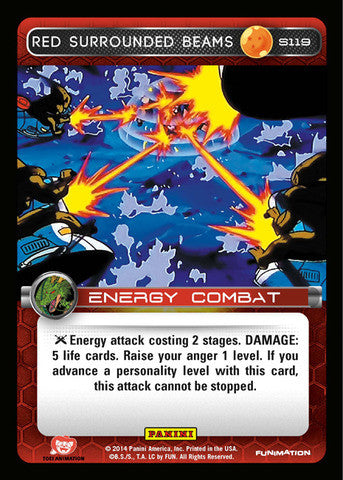 #S119 Red Surrounded Beams - Foil (Premiere Set)