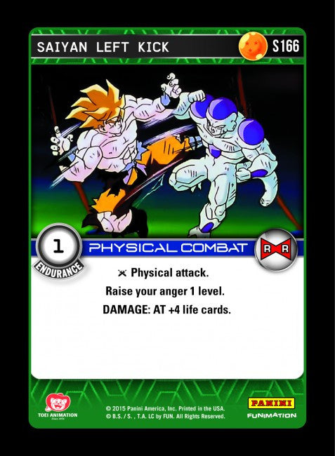 #S166 Saiyan Left Kick - Foil (Evolution)