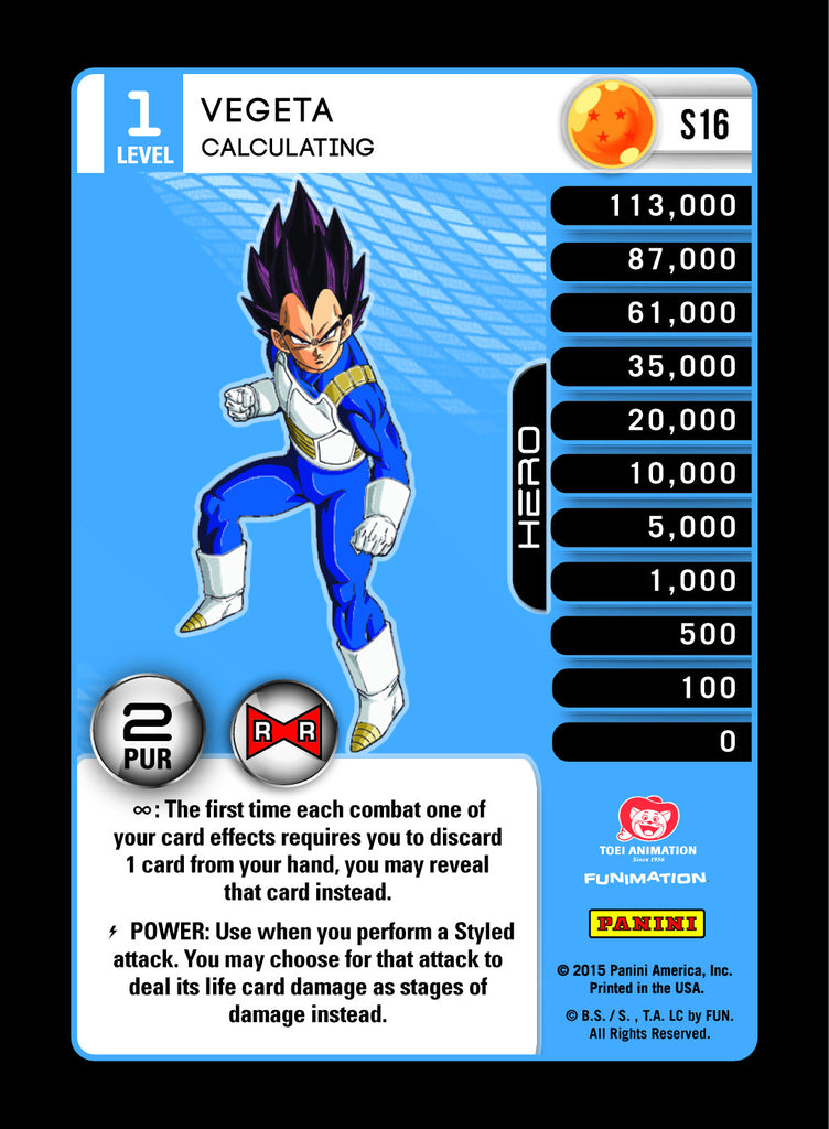 #S016 Vegeta, Calculating - Pack Foil (Evolution)