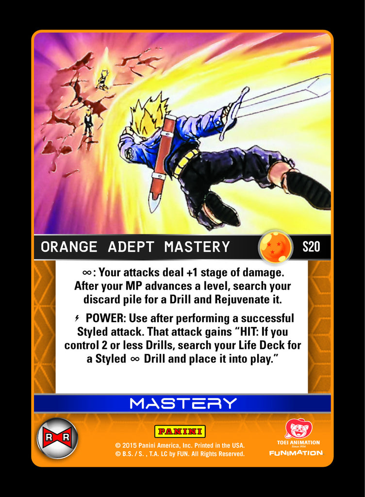 #S020 Orange Adept Mastery - Pack Foil (Evolution)