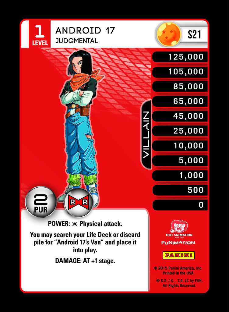#S021 Android 17, Judgmental - High Tech Foil (Evolution)