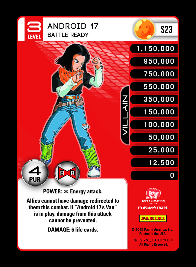 #S023 Android 17, Battle Ready - High Tech Foil (Evolution)