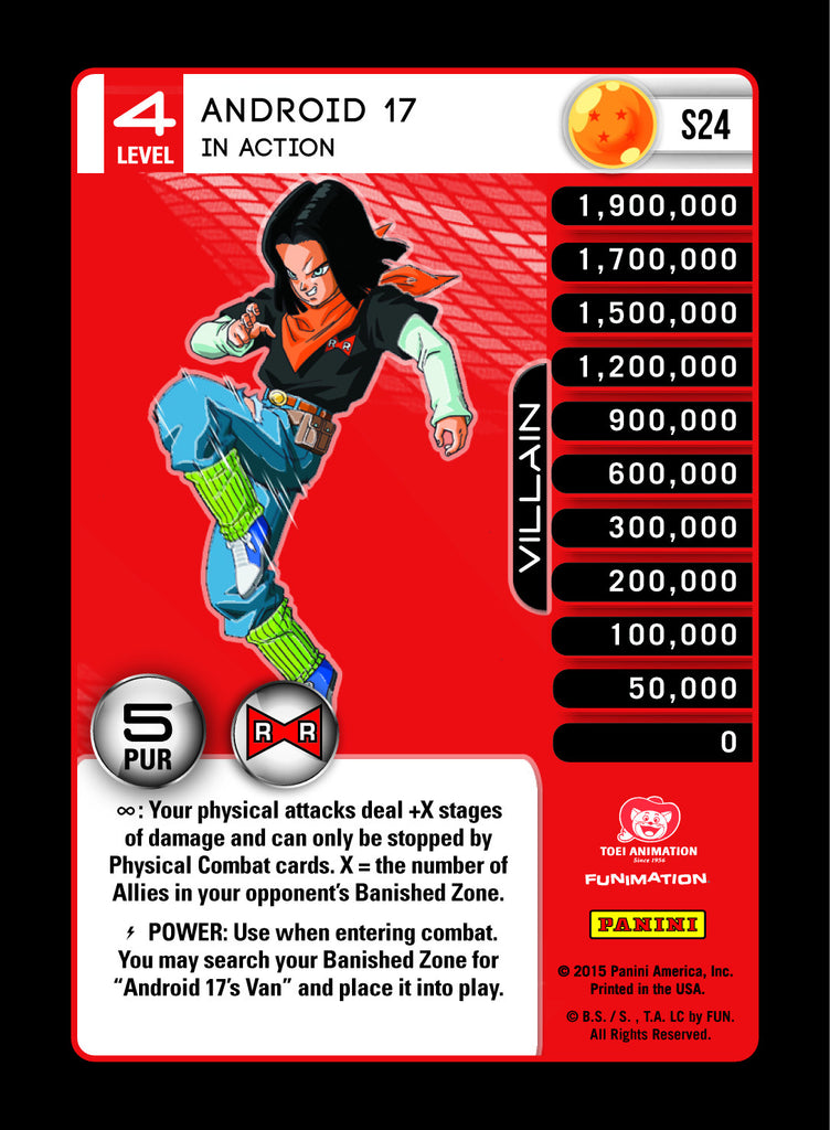 #S024 Android 17, In Action - Pack Foil (Evolution)