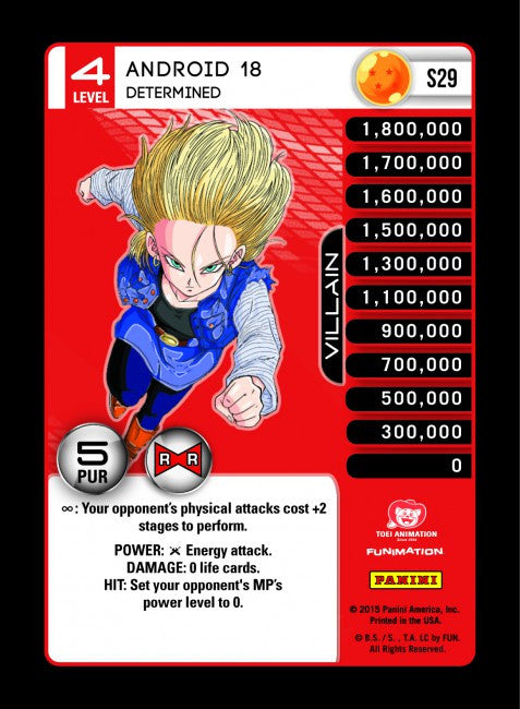 #S029 Android 18, Determined - Rainbow Prism Foil (Evolution)