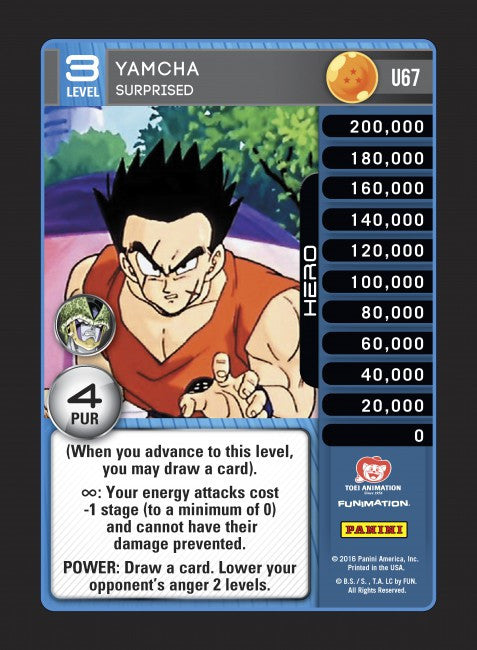 #U067 Yamcha - Surprised (Perfection) - Foil