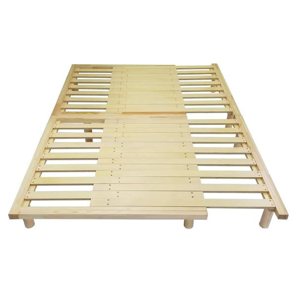 REST CouchBed Adjustable Wooden Platform Frame Full