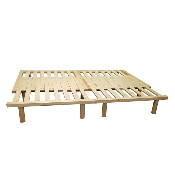 REST CouchBed Adjustable Wooden Platform Frame Queen