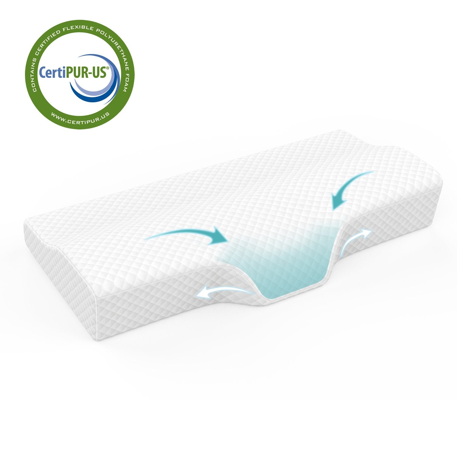 Contoured Orthopedic Neck Pillow - Premium Memory Foam