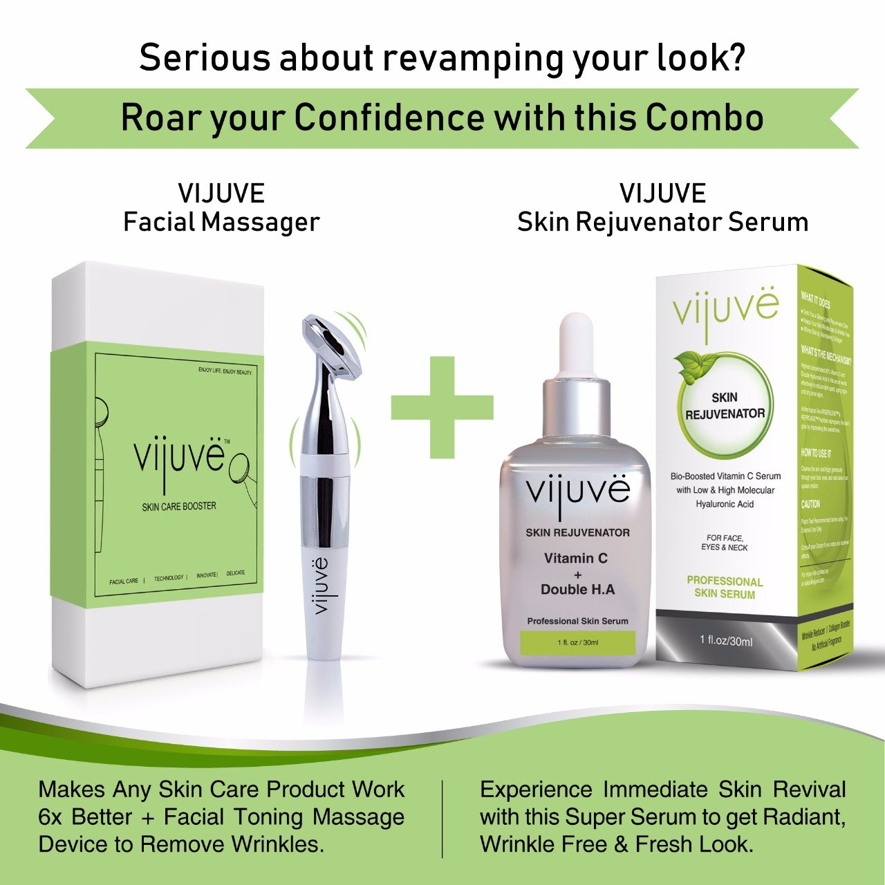 Anti Aging Face Massager by VIJUVE for Wrinkles Removal & Facial Skin