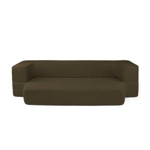 REST Twin Memory Foam CouchBed Coffee Color w/ Changable Cover