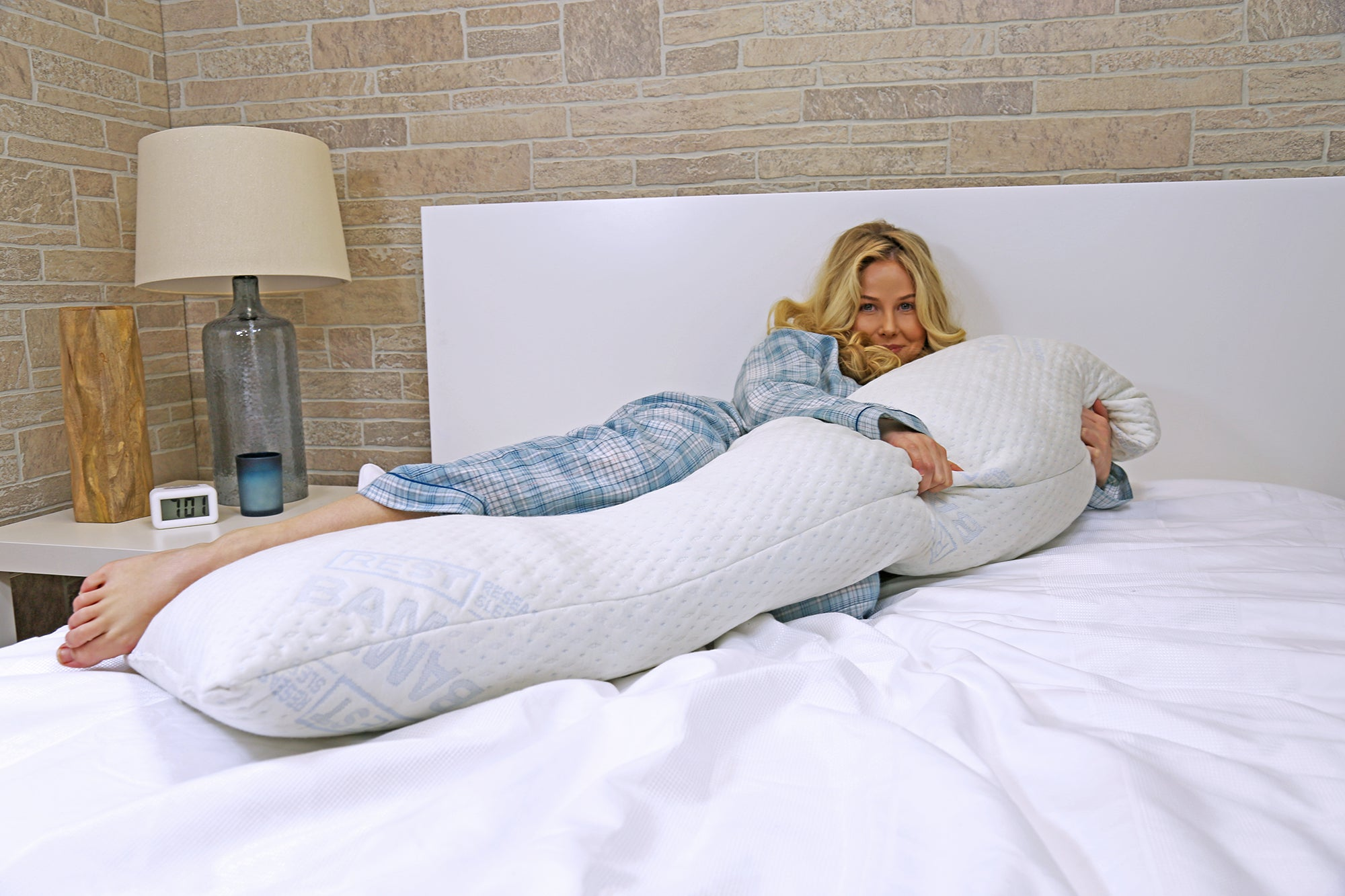 """BRADS DEAL 40% OFF""-REST Snuggle Buddy Memory Foam Body Pillow  ""DISCOUNT APPLIED IN SHOPPING CART"""