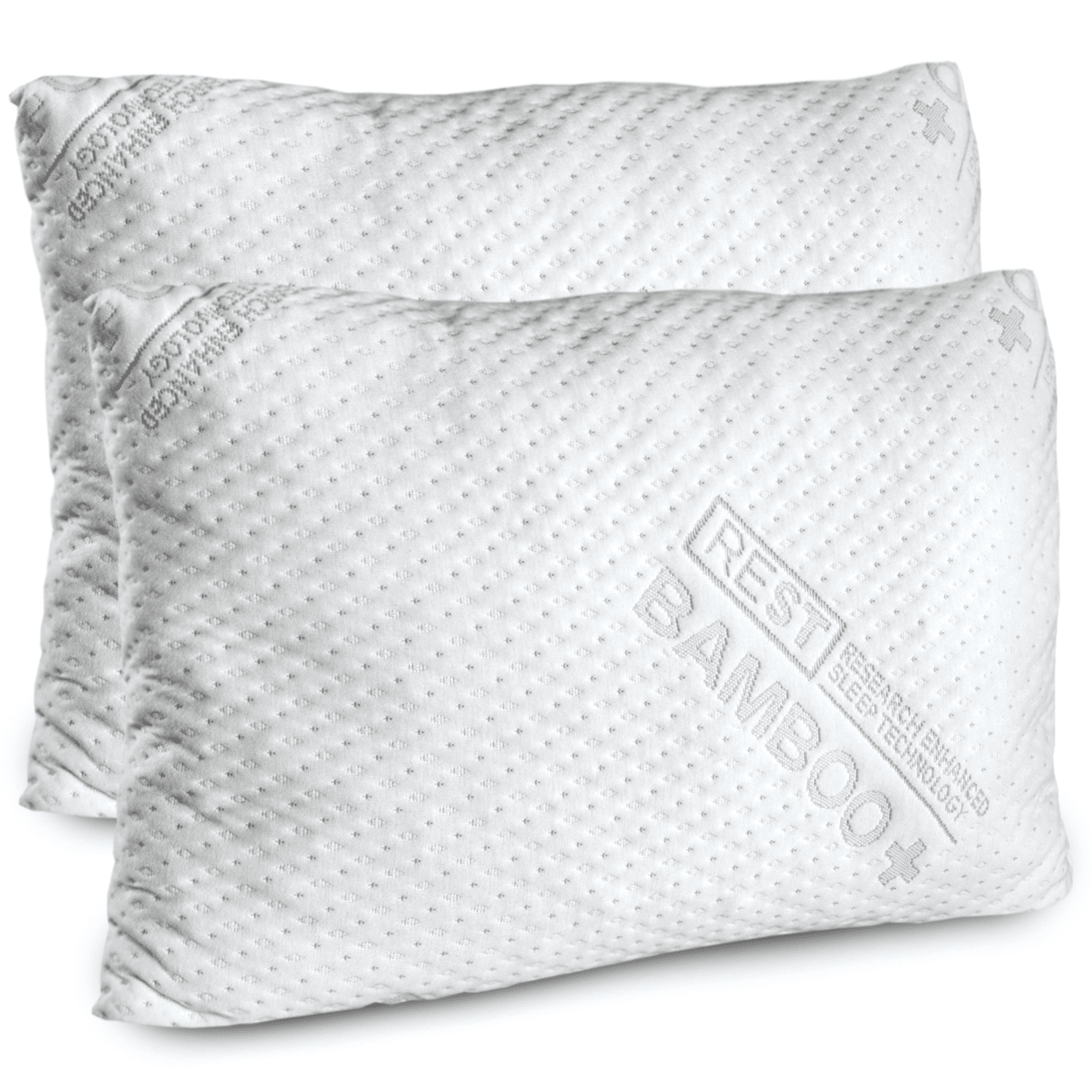 REST Premium Blended Memory Foam Queen Size Pillow (2 Pack)