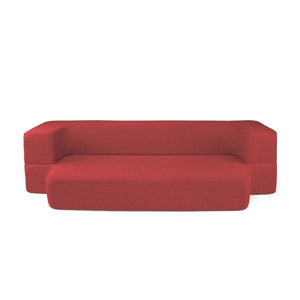 REST Queen Memory Foam CouchBed Red Color w/ Changable Cover