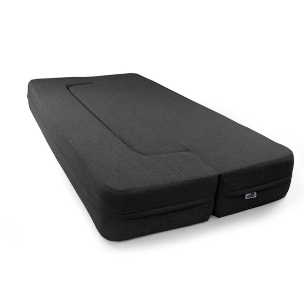 REST Queen Memory Foam CouchBed Charcoal Color w/ Changable Cover