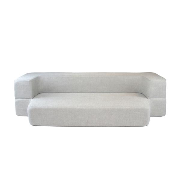 REST Queen Memory Foam CouchBed Limestone Color w/ Changable Cover