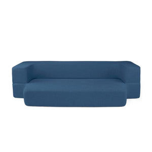 REST Queen Memory Foam CouchBed Blue Color w/ Changable Cover