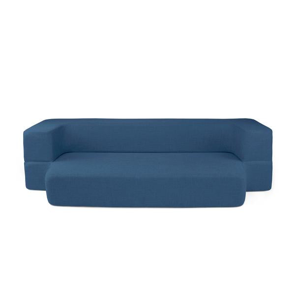 REST Twin Memory Foam CouchBed Blue Color w/ Changable Cover