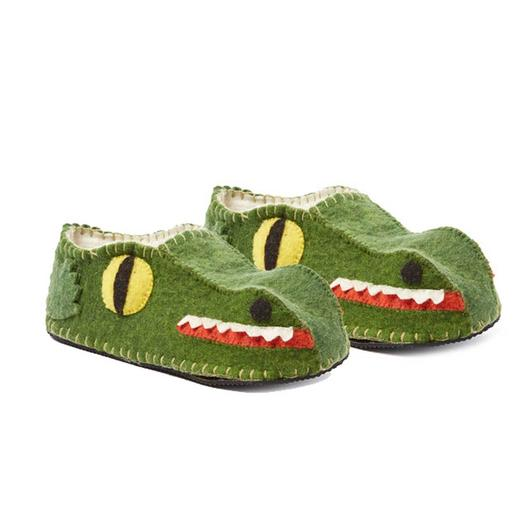 Adult's Alligator Slippers