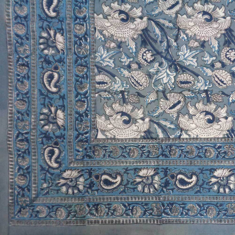 Blue Estate Thistle Handcrafted Tablecloth