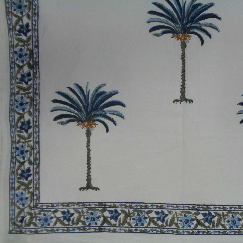 Riviera Blues Handcrafted Tablecloth