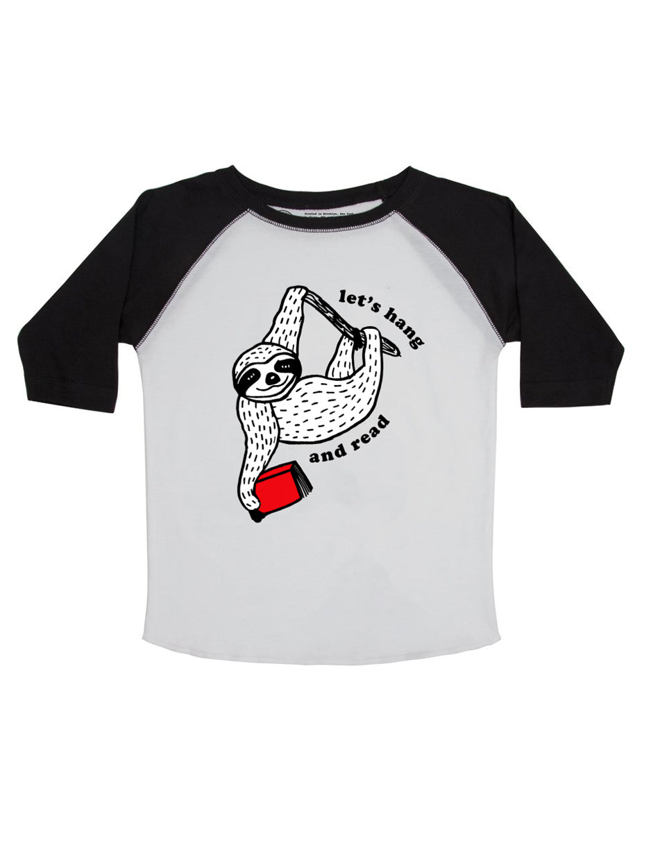 Let's Hang and Read Kids 3/4 Sleeve Raglan