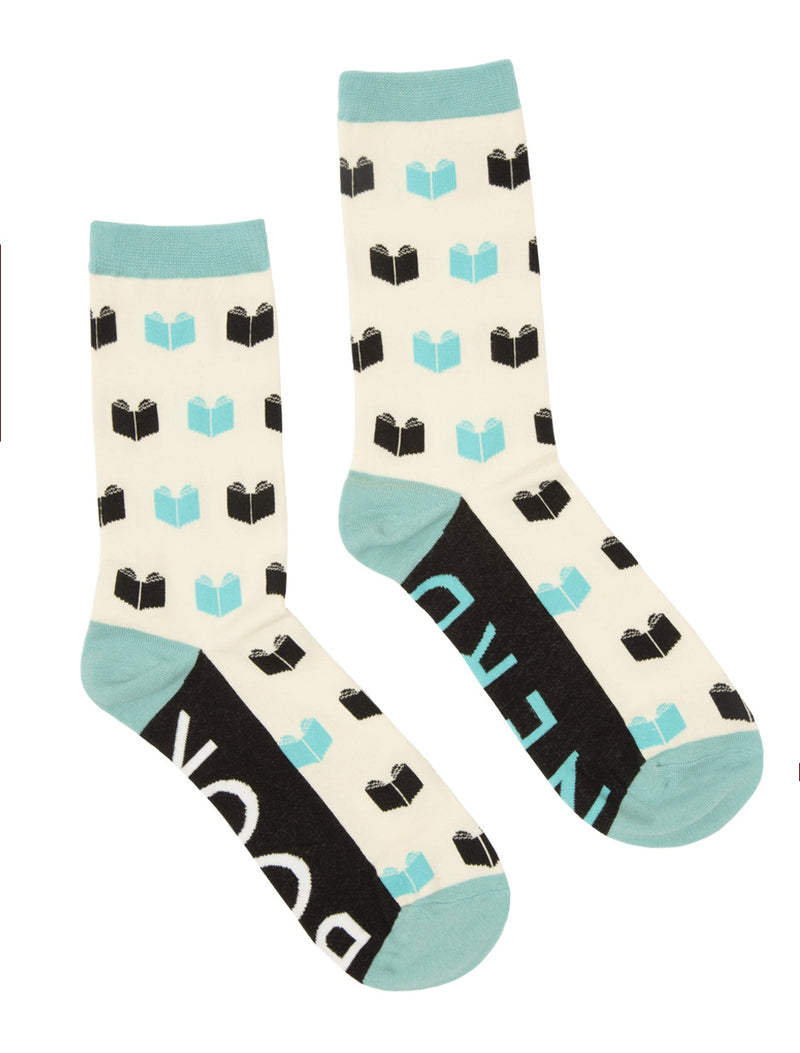 Book Nerd Adult Socks