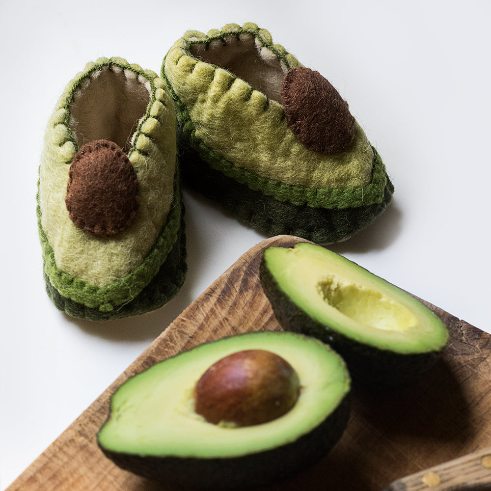 Avocado Baby Booties