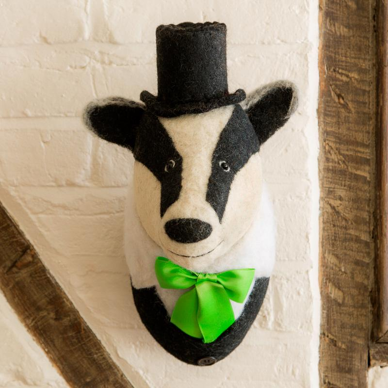 Mounted Badger Head