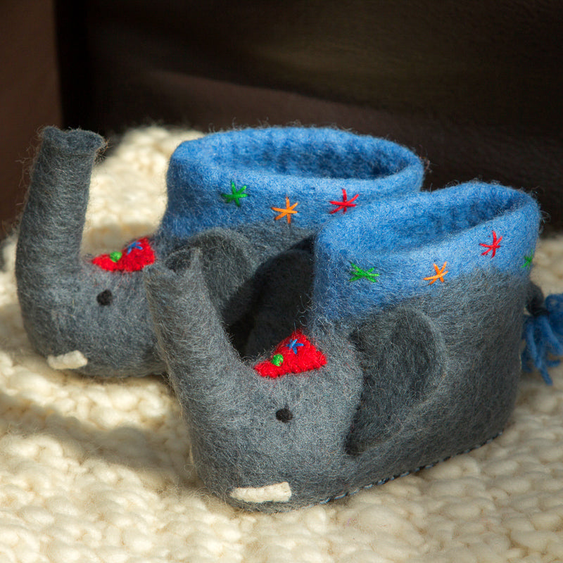 Children's Elephant Slippers