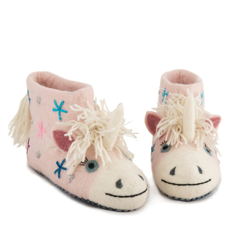 Adult's Unicorn Slippers