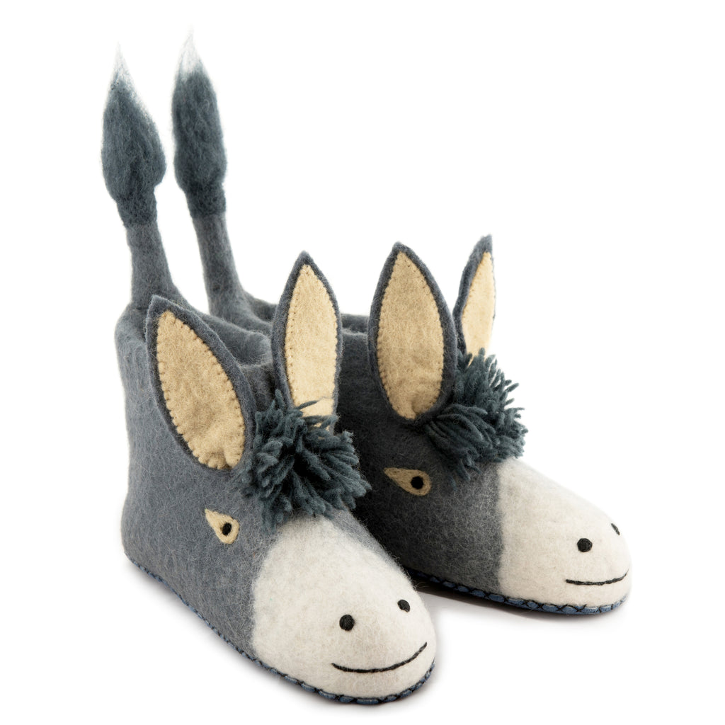 Adult's Donkey Slippers