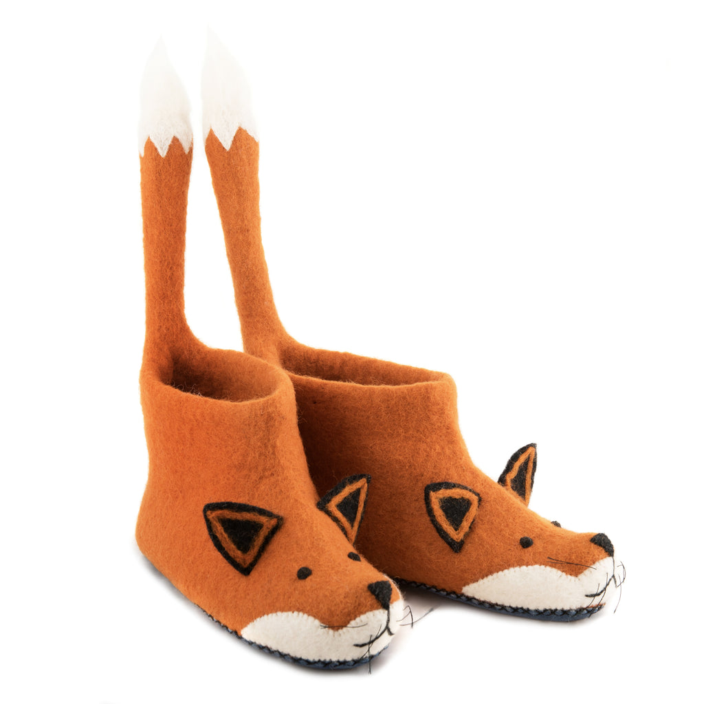 Adult's Fox Slippers