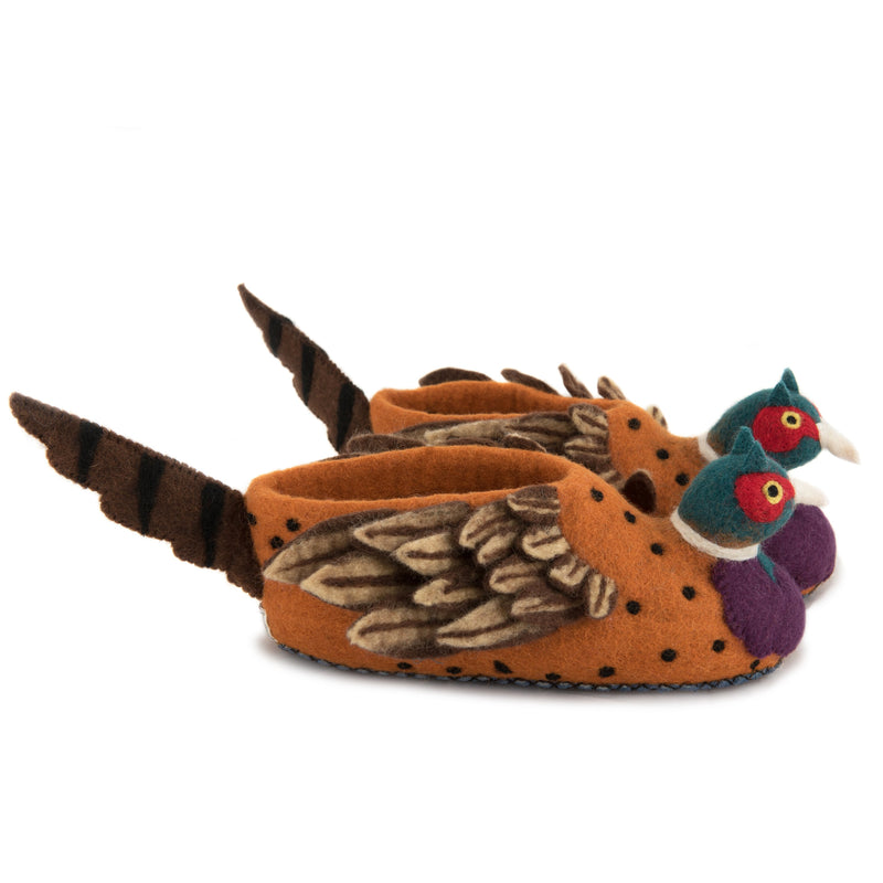 Adult's Pheasant Slippers