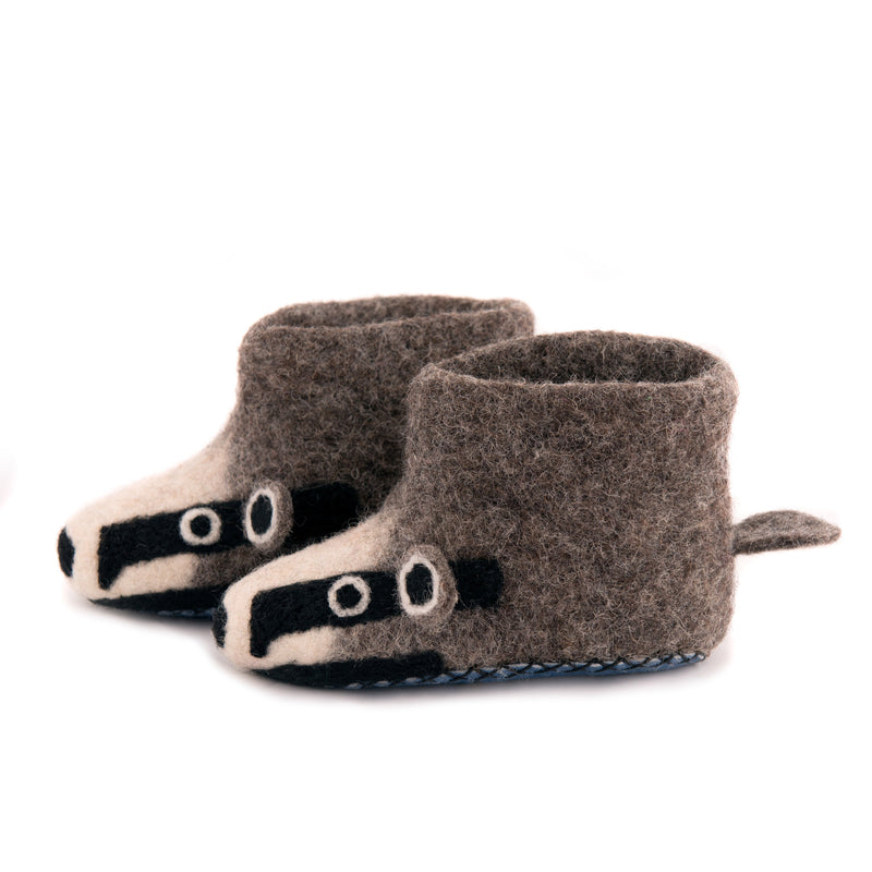 Children's Badger Slippers