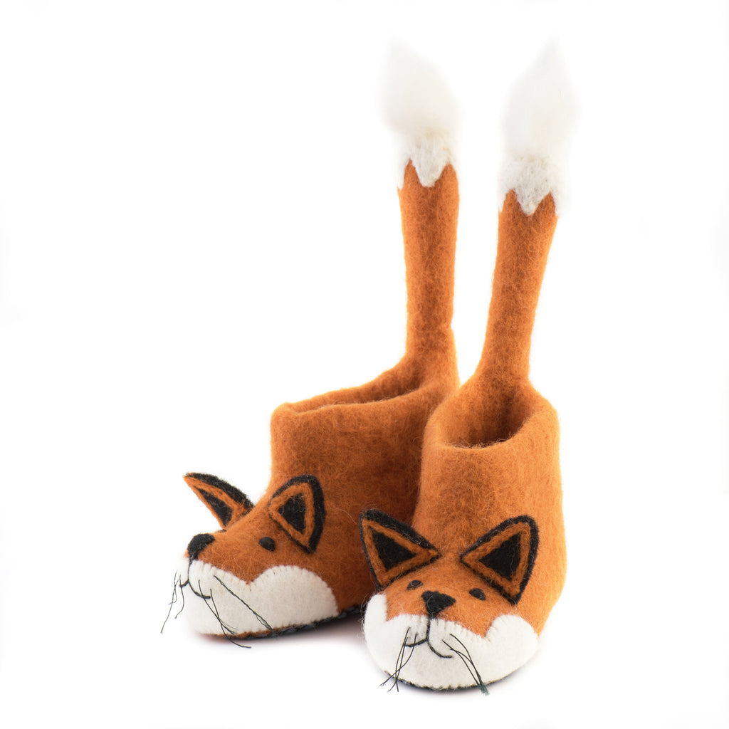 Children's Fox Slippers