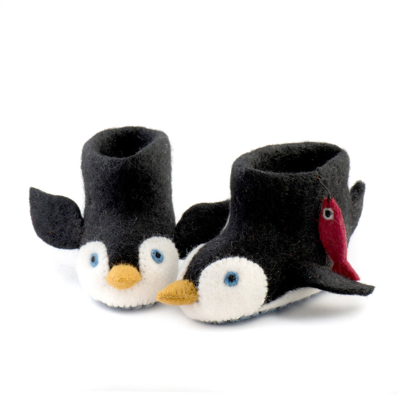 Children's Penguin Slippers