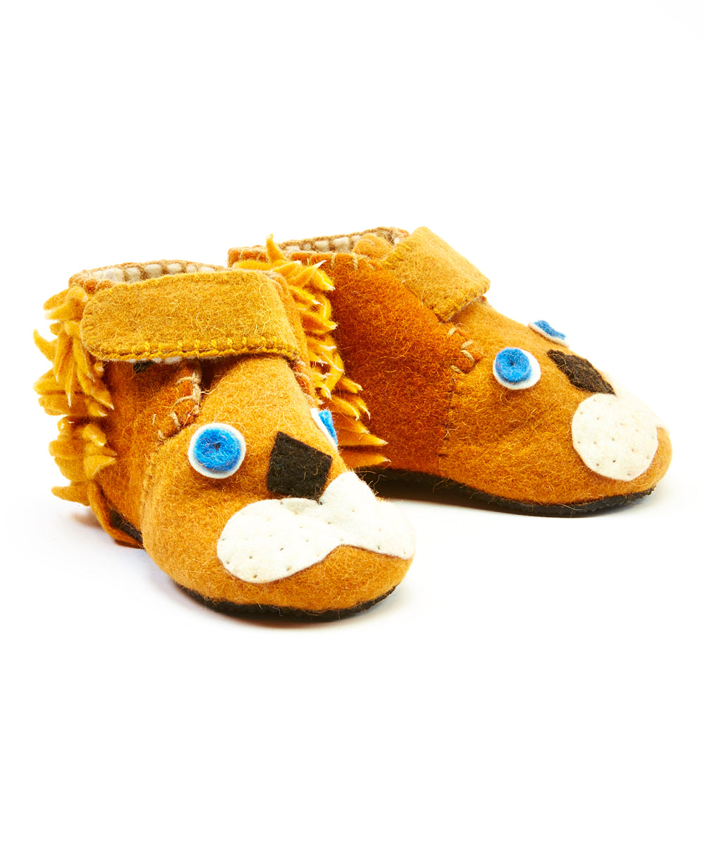 Toddler's Lion Slippers