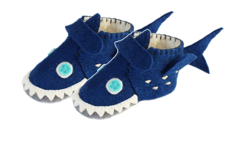Toddler's Whale Slippers